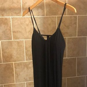 Fabletics black thin strap maxi